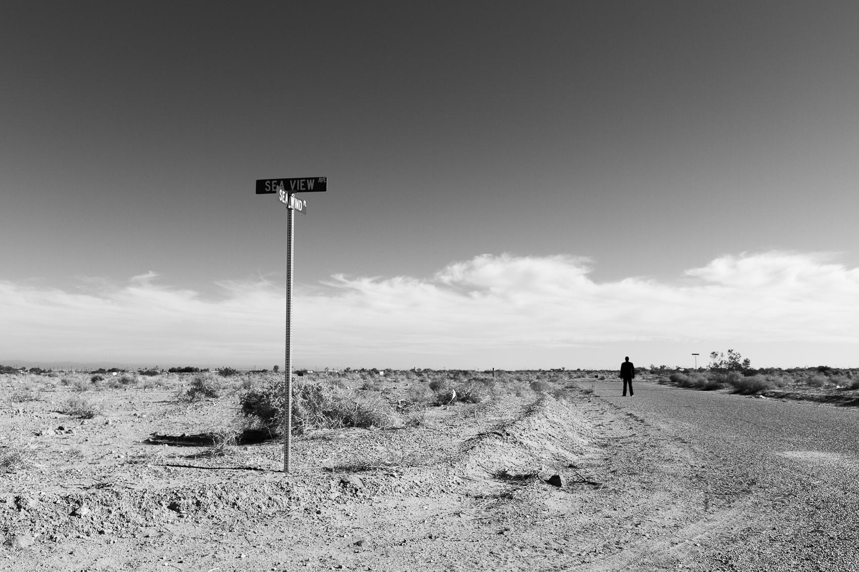 Self Portrait, Sea View Drive, Salton Sea, 2014