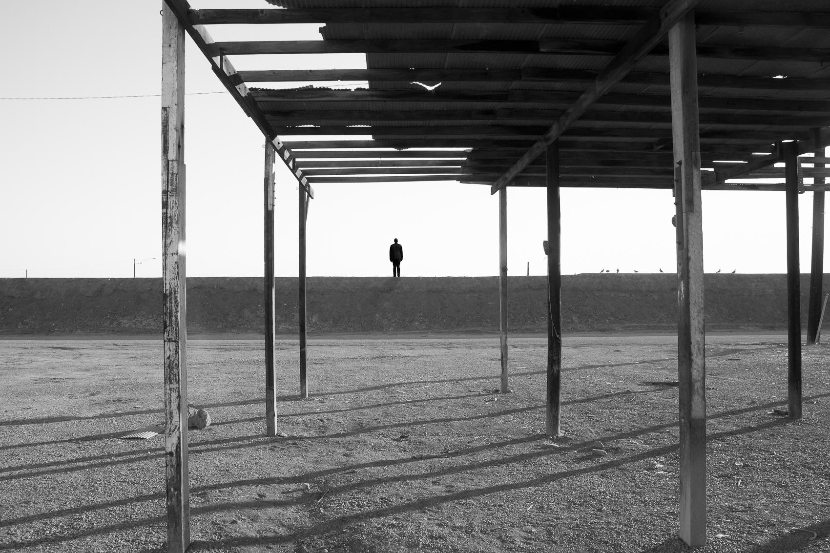 Self Portrait, Avenue D, Salton Sea, 2016
