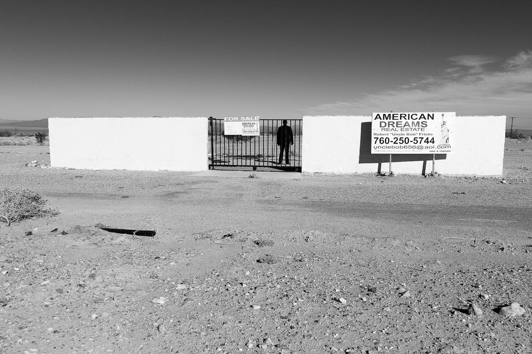 Self Portrait, Sea Wind Avenue, Salton Sea, 2014