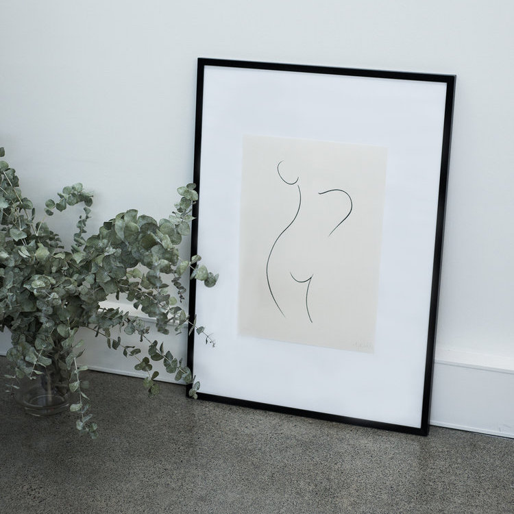 COVETED |   Melbourne based artist Caroline Walls has produced a series of limited edition prints available exclusively and in collaboration with The UNDONE, focusing on the female form...
