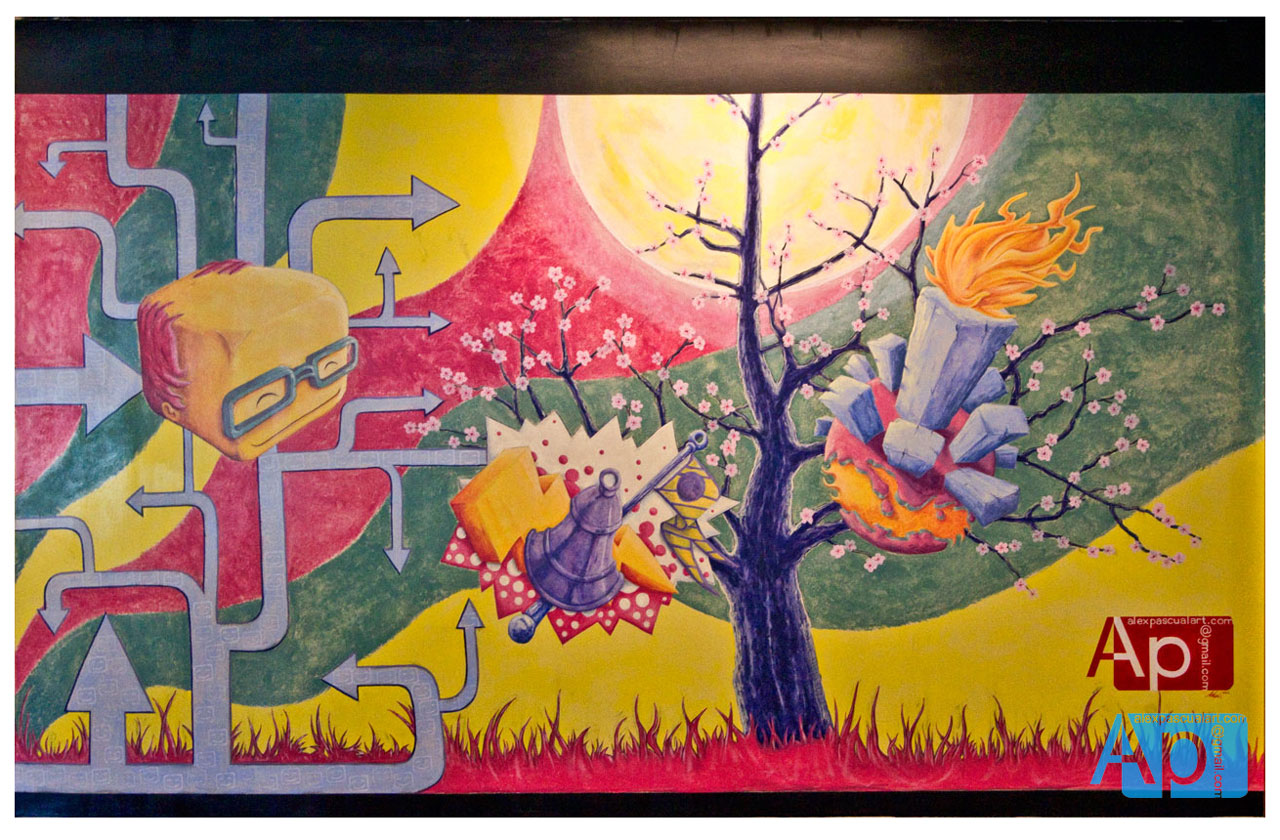 Mural Commission  - Google office in Bothell, WA  view process at:  pascualamural.blogspot.com