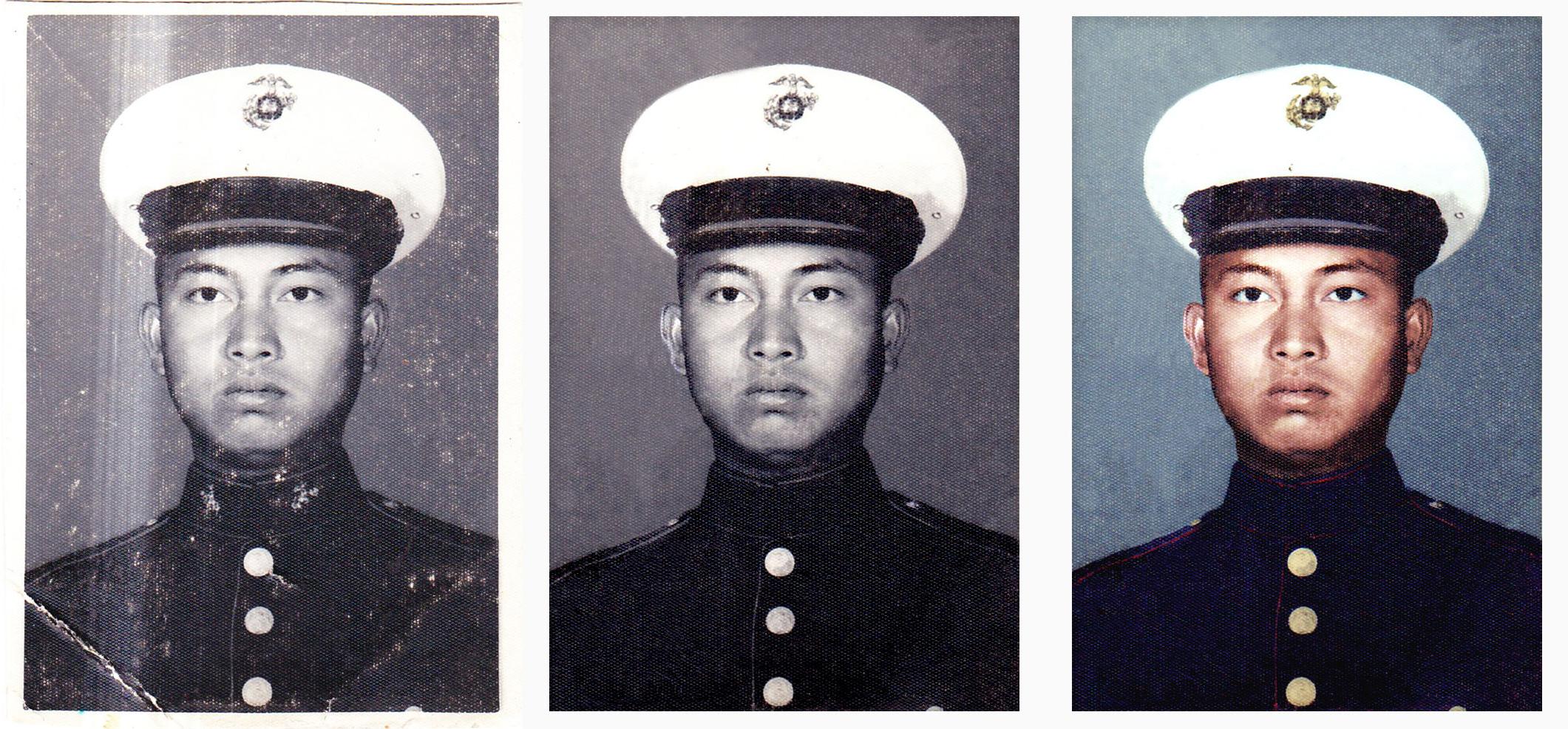 Photo Restoration and Colorization - original photo circa 1966