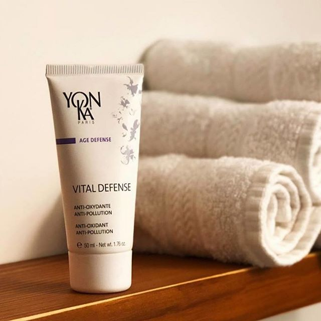 Available at The Green Tree Day Spa -  Vital Defense was specially formulated to fight the damaging environmental factors that cause oxidative stress such as pollution. Vital Defense cream contains high-performance plant extracts that help the skin preserve its youthfulness.