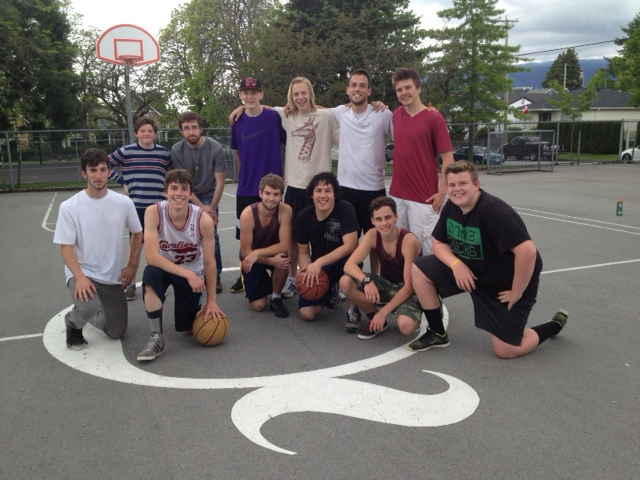 Student-Athletes playing at Quinn's Court at Ridgeway Elementary