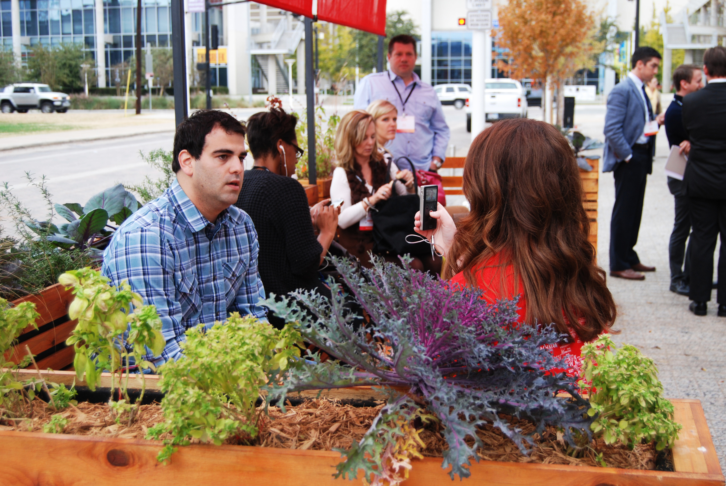 The parklet provided an idyllic setting for neighborhood storytelling