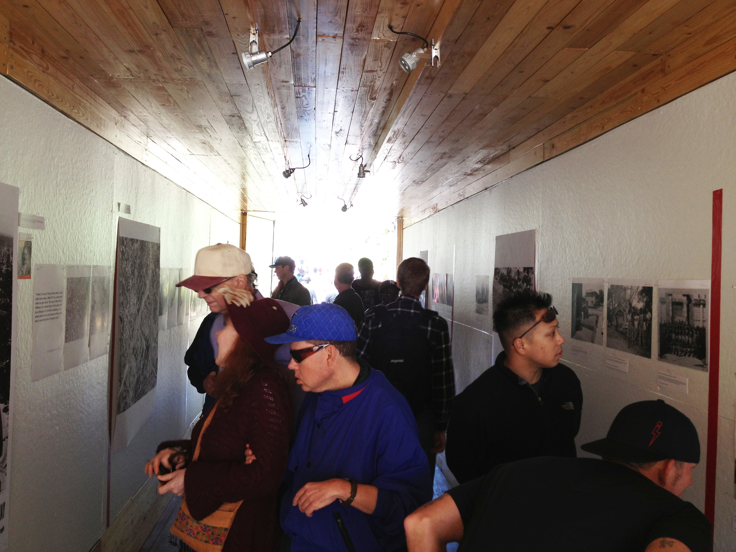 The gallery was regularly filled with visitors