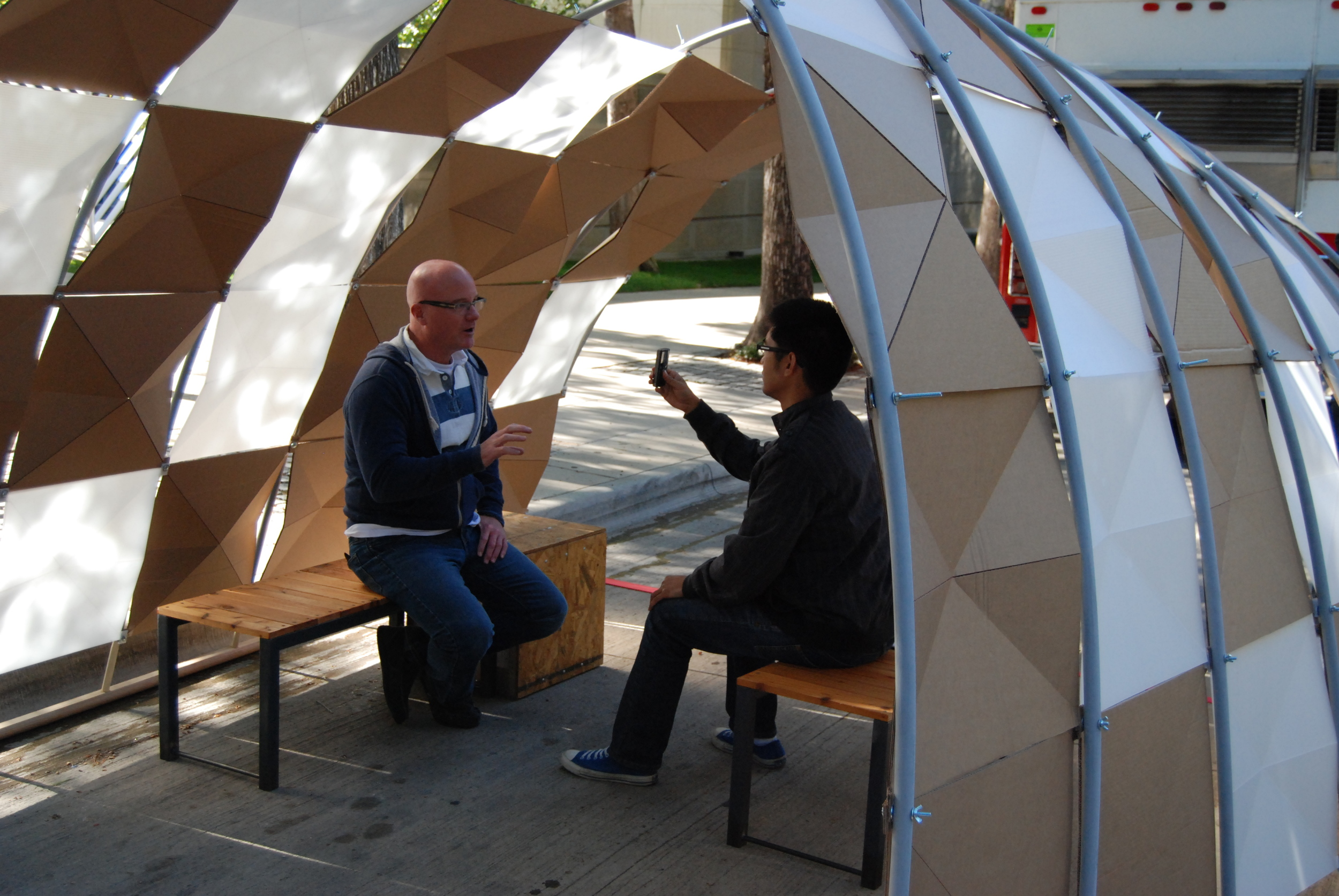 The Story House made its outdoor debut to collect Neighborhood Stories