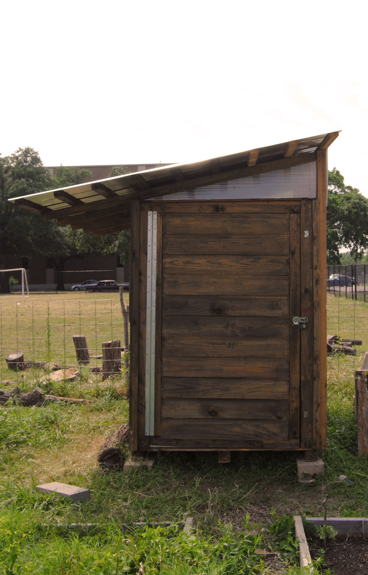 The completed garden toolshed.