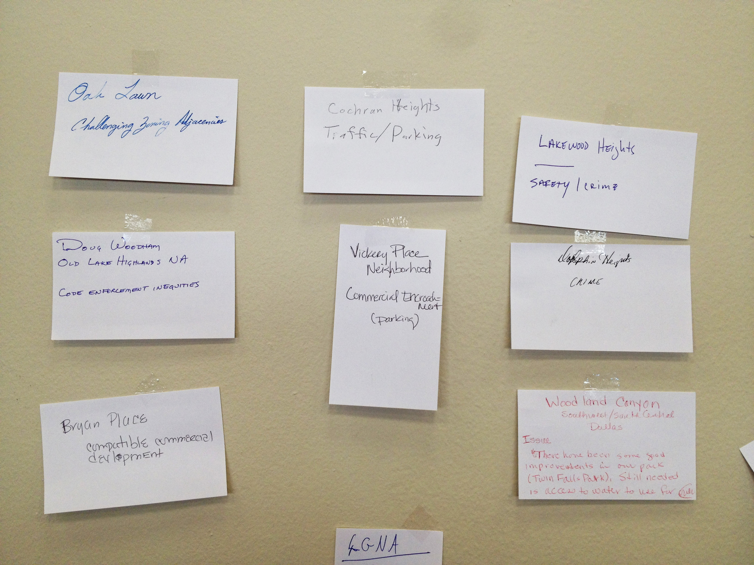 Participants identified issues in their neighborhoods.
