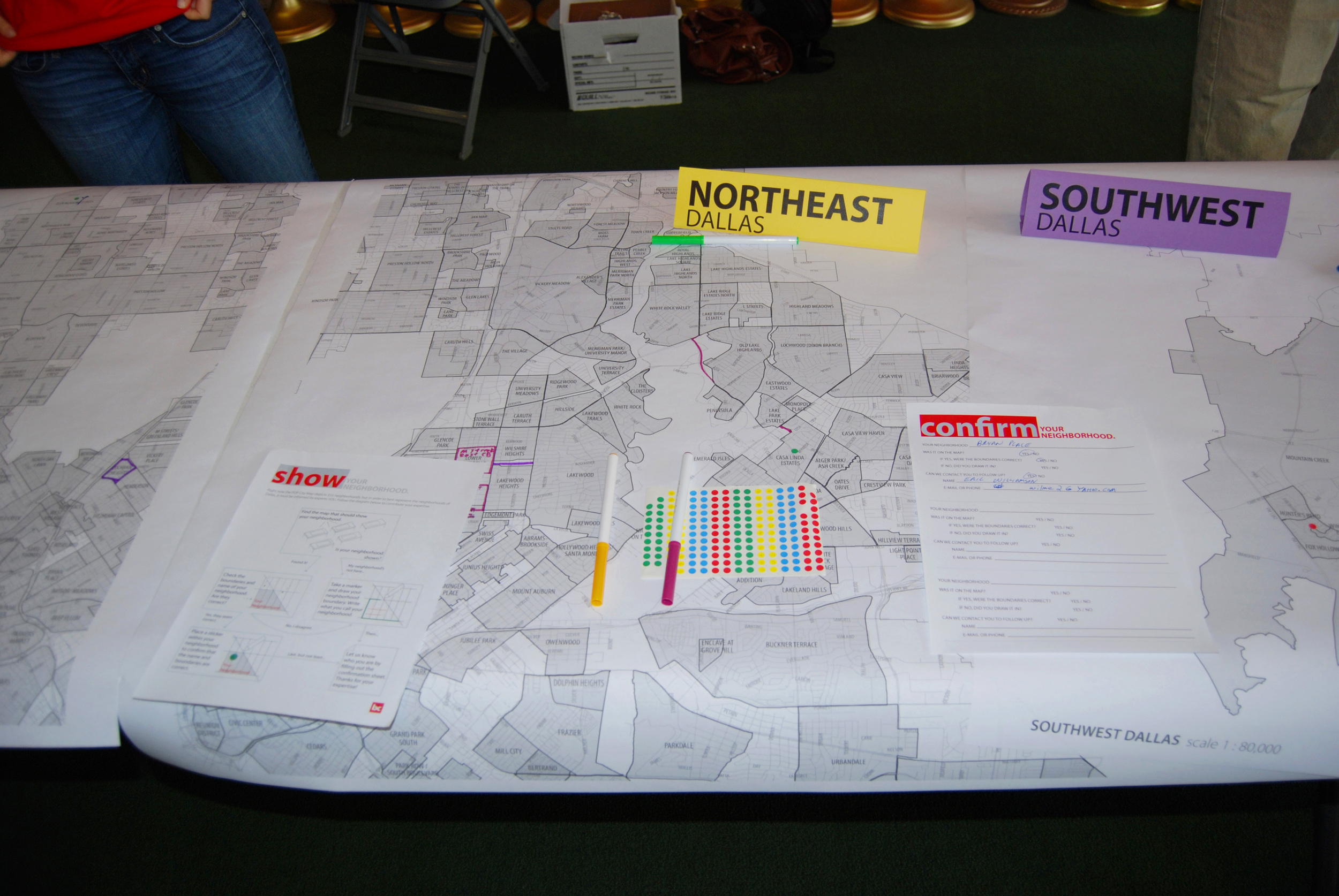 Residents of 27 different neighborhoods made their mark on the map.