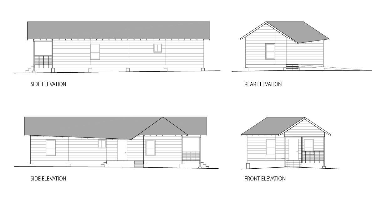 Elevations of the final design.