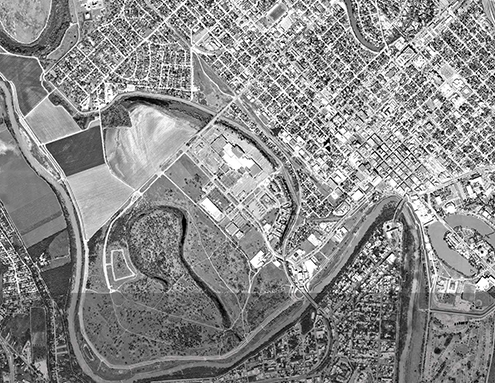 aerial photograph of Brownsville, TX