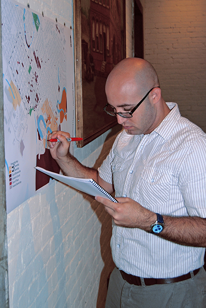 bcW's Justin Tirsun during UTB charrette session