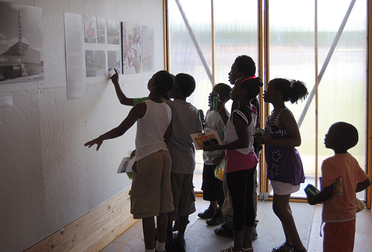 Exhibit displayed the physical and social histories of the community.