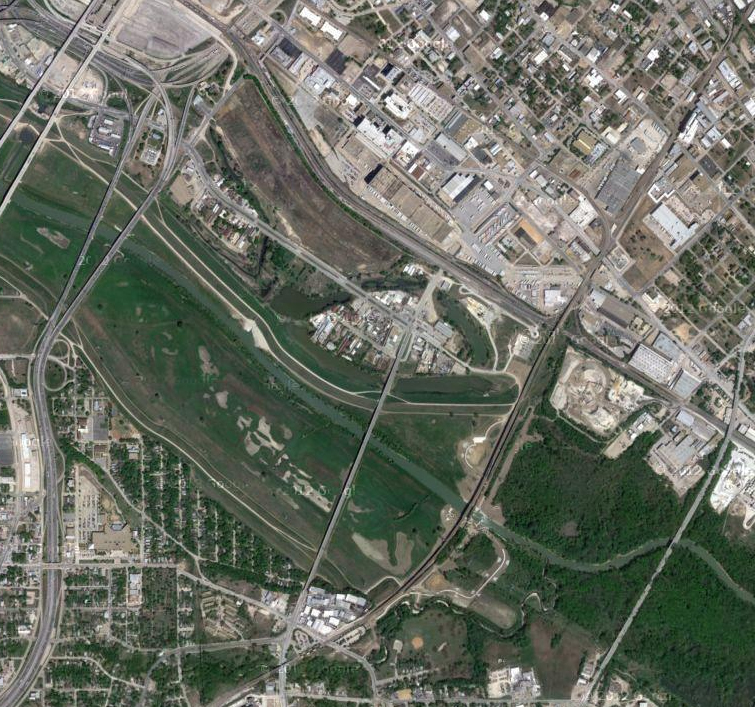 Google map capture of Rock Island in 2012