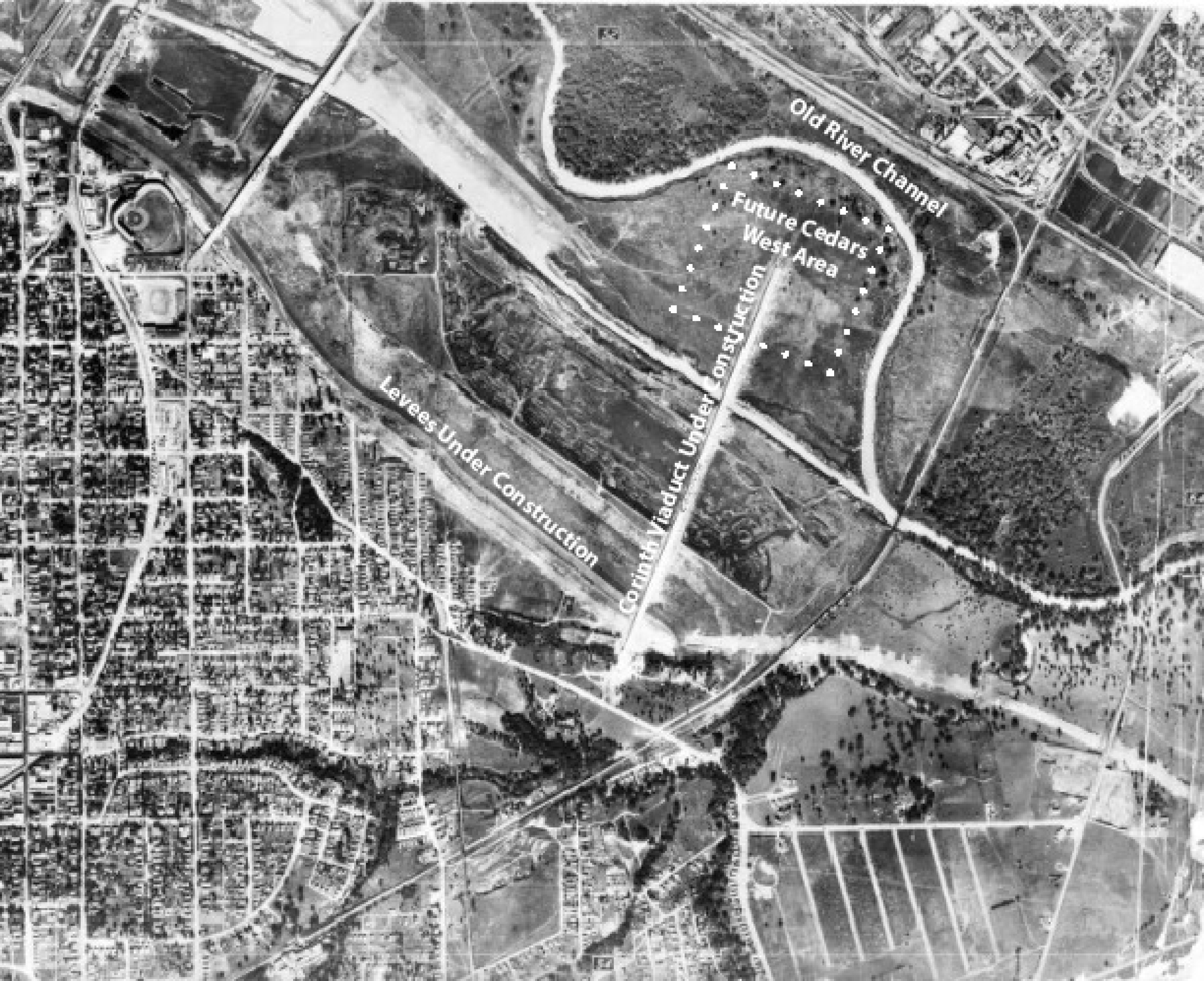 Aerial photograph of the Rock Island area in 1930