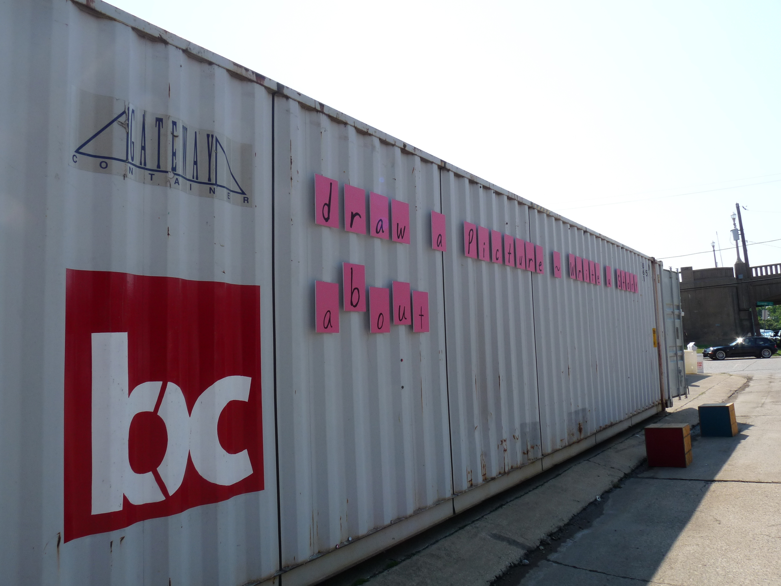 bcW's 45-foot long container served as mobile gallery.