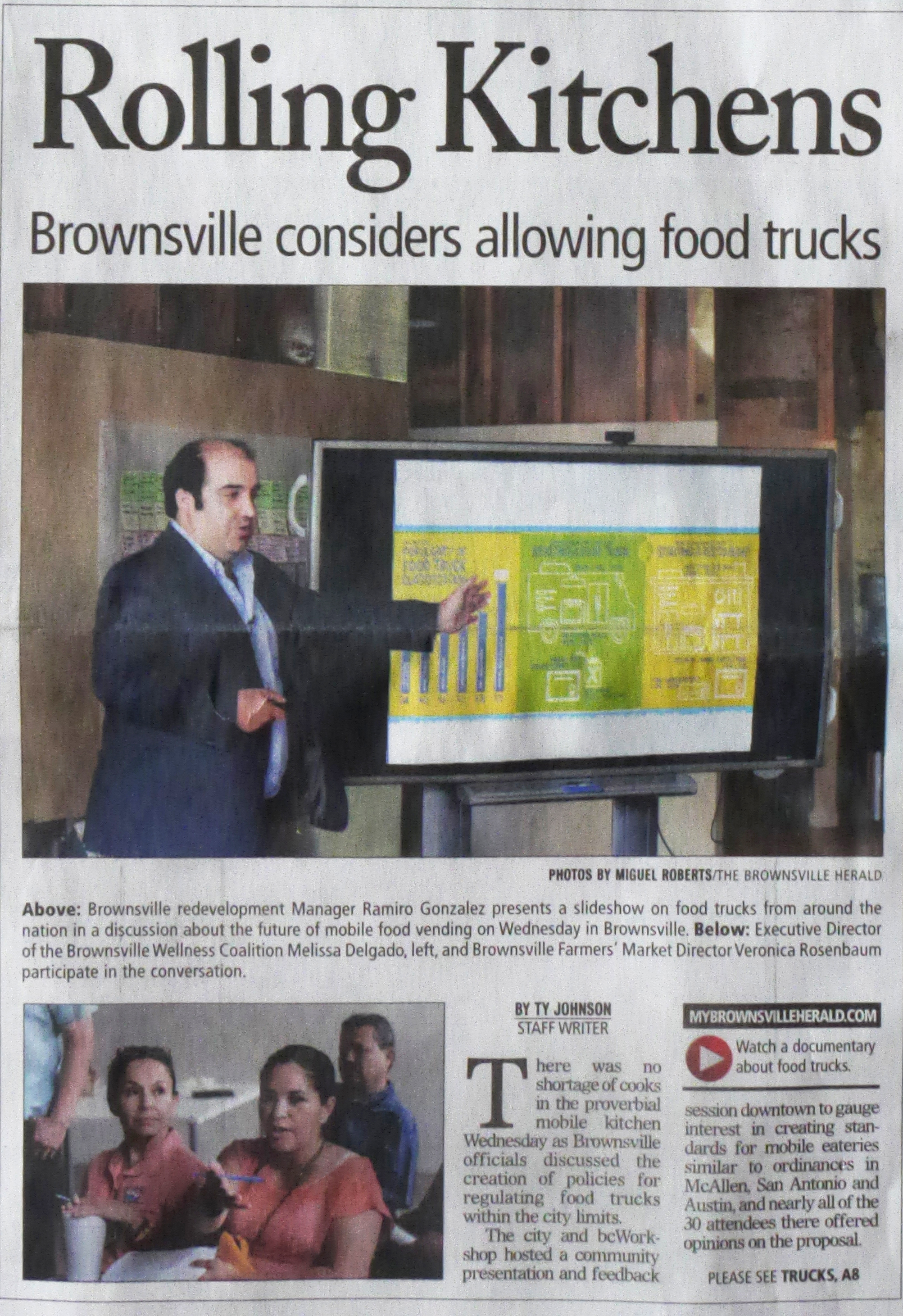 Front page of the Brownsville Herald.