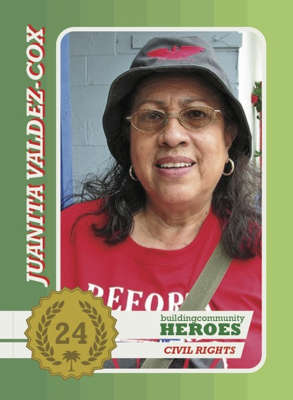 Juanita Valdez-Cox, a bcHERO.