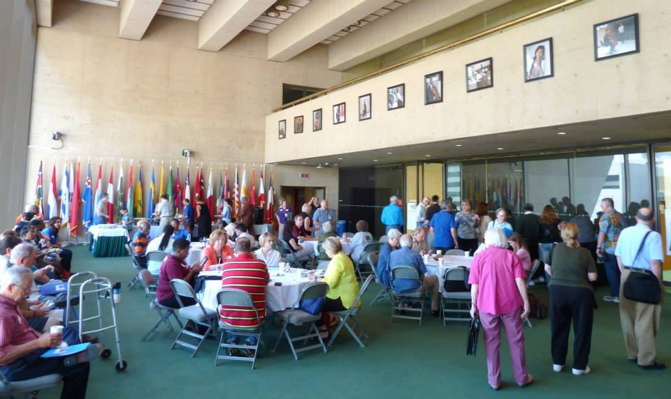 Folks participating in the 2015 Dallas Homeowners League Boot Camp at Dallas City Hall. Image courtesy of Dallas Homeowners League.