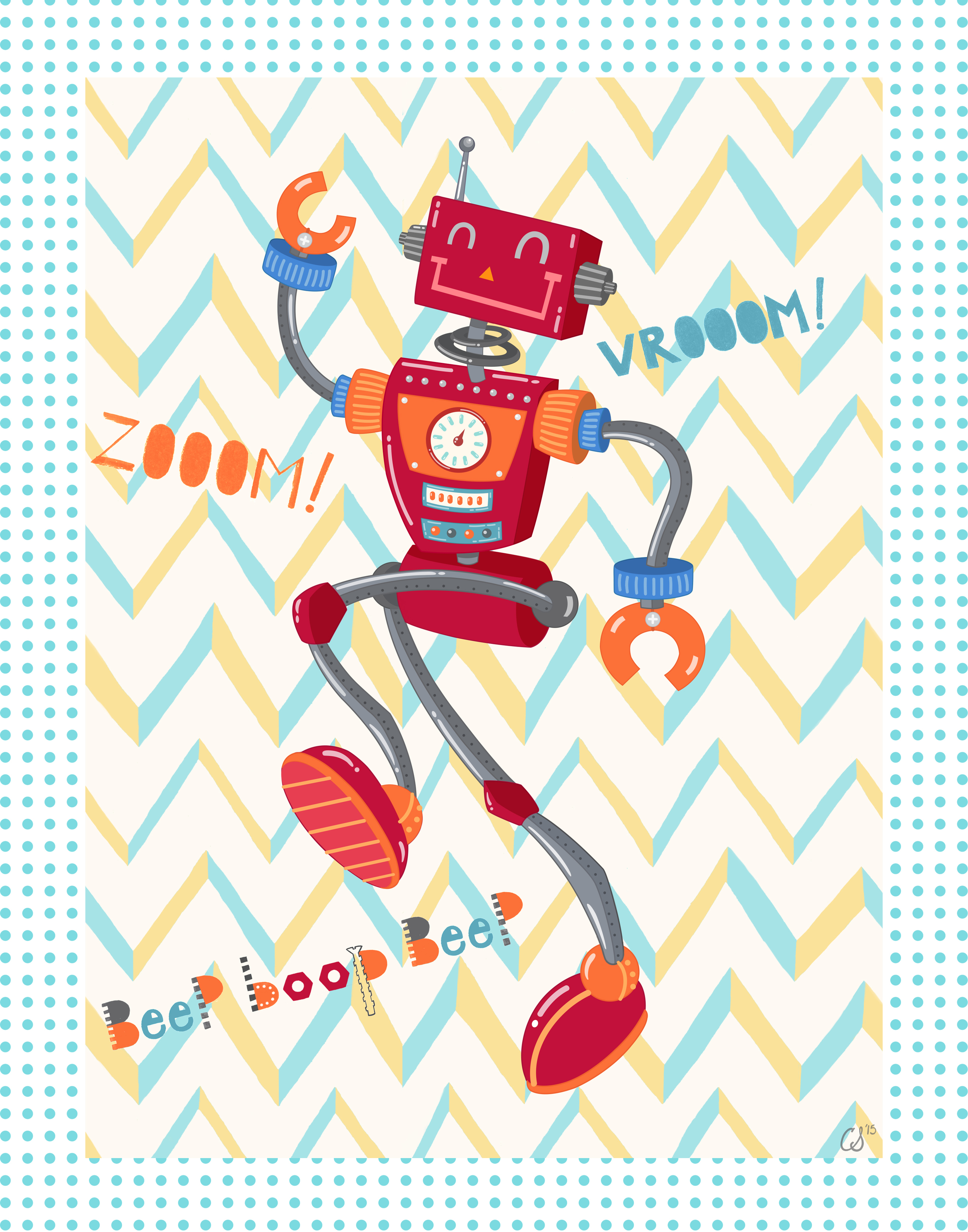 Zoom Robot  image created for Art in Motion.  artinmotion.com .  This image is available for  publishing  purposes.