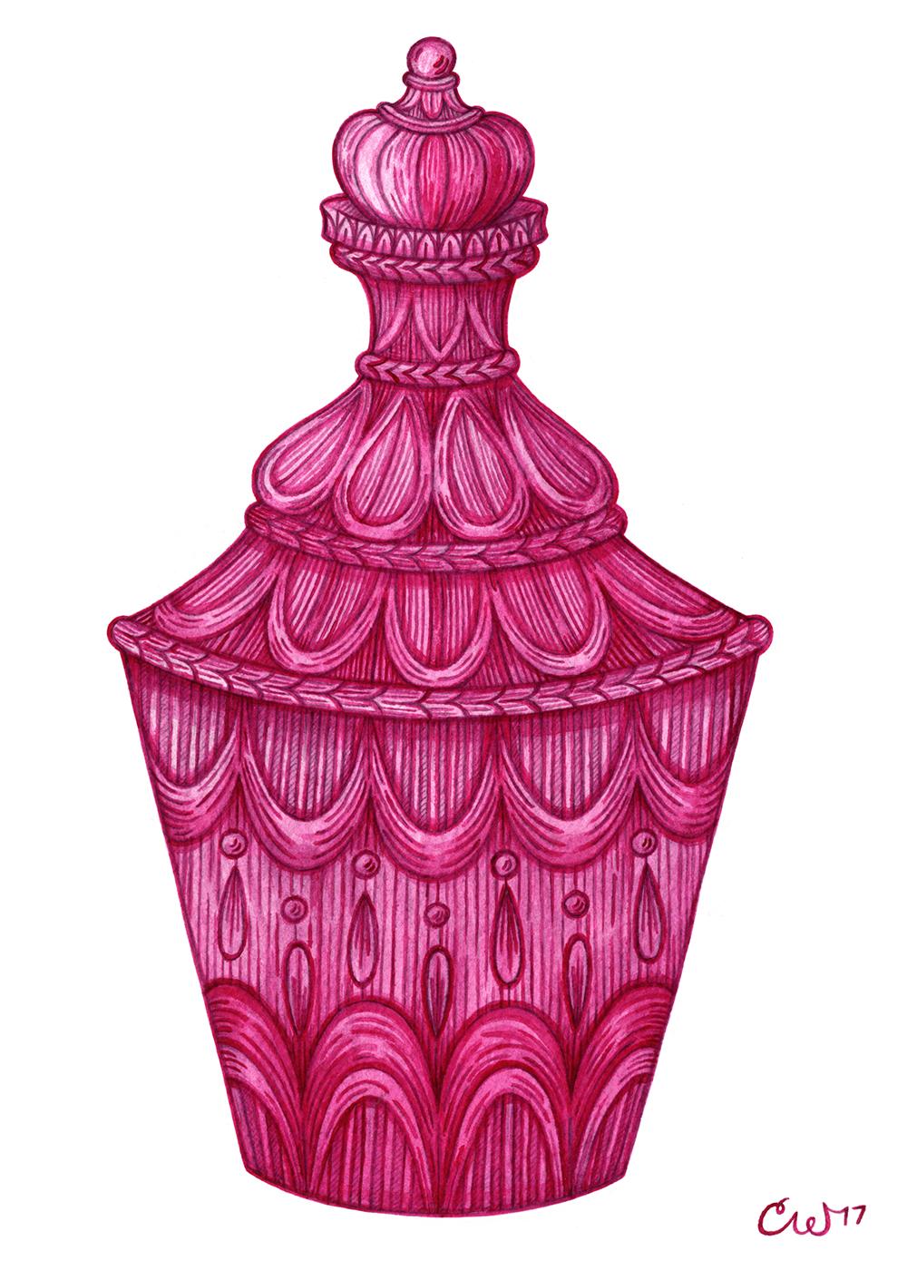 Magenta Bottle
