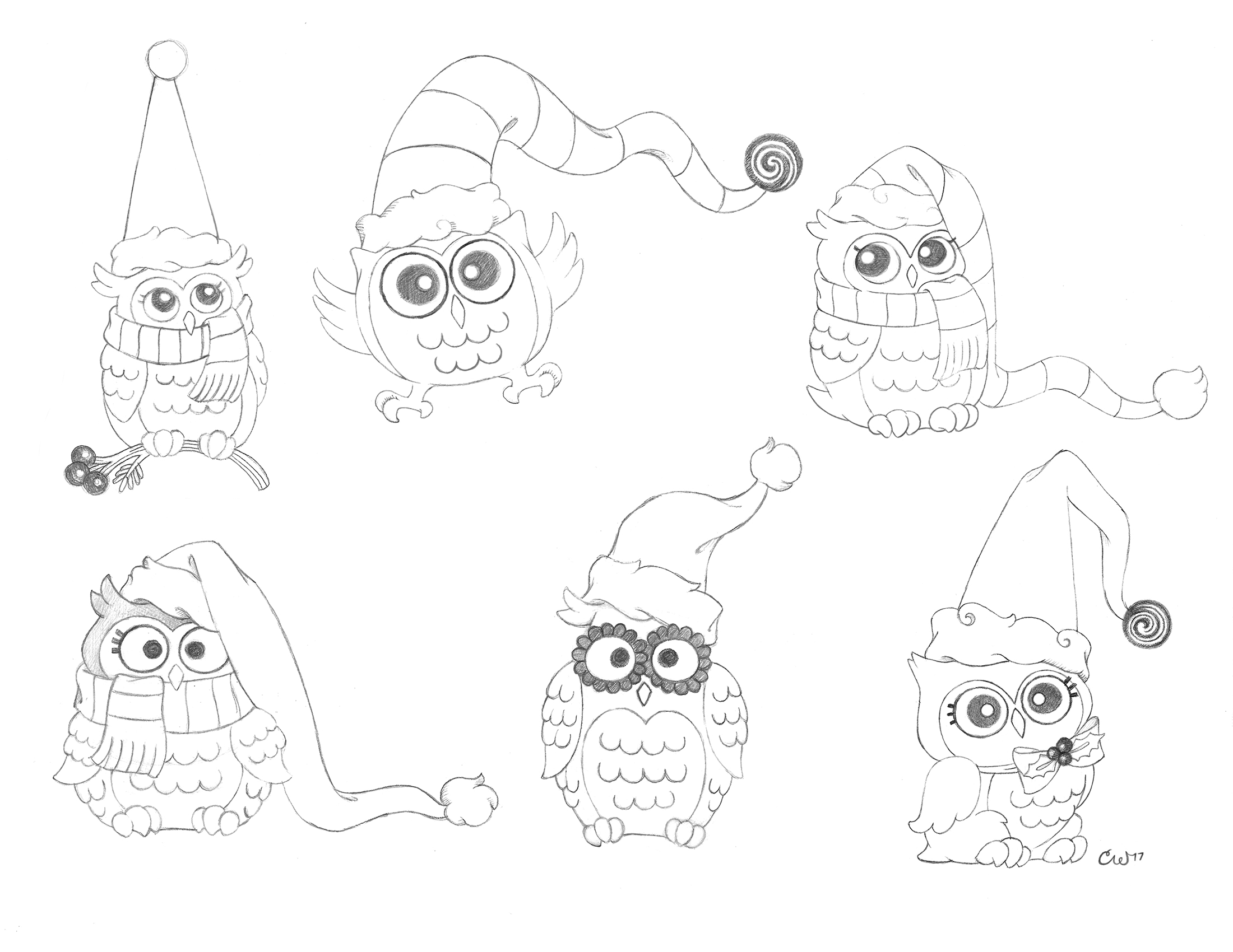 Holiday Owls