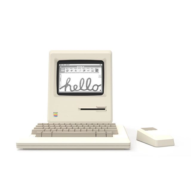 Mac's 35th birthday #1984 Don't know what we would do without our Mac's today #Macalltheway #Macintosh #oldschool #newschool