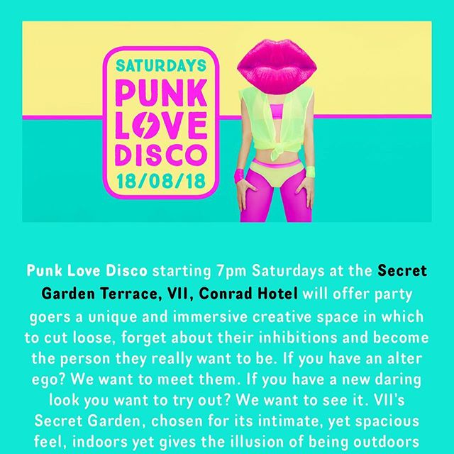 Our single page scroll down site for www.punklovedisco.com