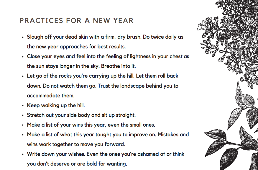 practices for a new year