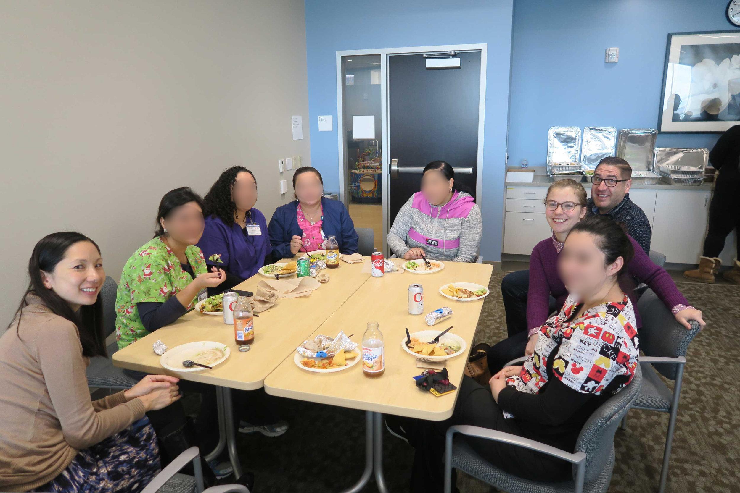 Staff celebration lunch