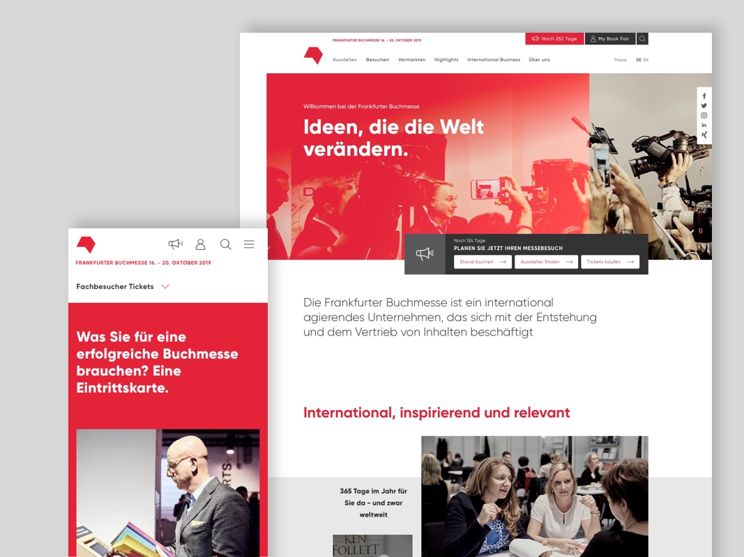 Ein digitales Zuhause für den Rechtehandel - Die Frankfurter Buchmesse ist der weltweit größte Handelsplatz für Inhalte. Wir haben shift dabei unterstützt, mit der neuen buchmesse.de eine zukunftsichere Plattform für Transaktionen, Kommunikation und digitale Produkte zu entwickeln.