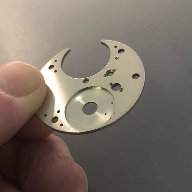 While the prototype top plate of our in-house movement, Project 248, is out of the workshop for sample engraving we are working on the bottom plate and pillar blanks for final designs. . . . #independentwatchmaking #watchmaking #horology #watches #making #craft #skills #bench #workshop #create #movement #make #design #details #timepiece #mechanical #handmade #machine #traditional #peoplemakingwatches #engineering #precision #makersgonnamake #english #birmingham #watchgeek #watchesofinstagram #instawatch