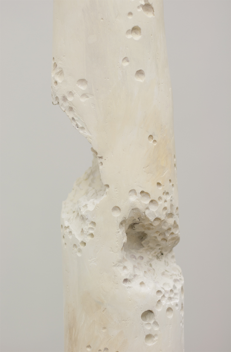 Untitled, 2013,173 x 30 x 30 cm. Oil on plaster on metal wire.