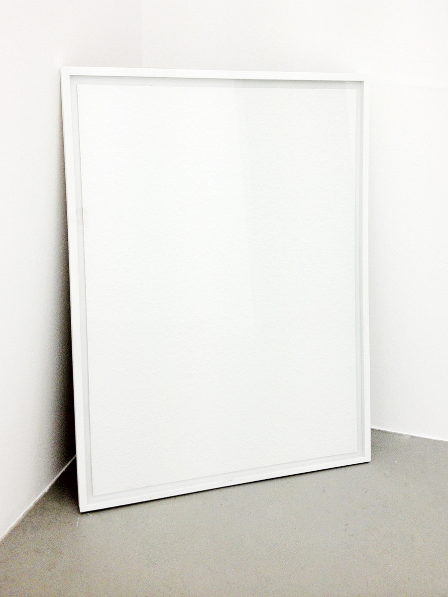 Torben Ribe, Wallpaper, 2010, 126 x 91 cm. Unpaid bills, oatmeal and paint on board.