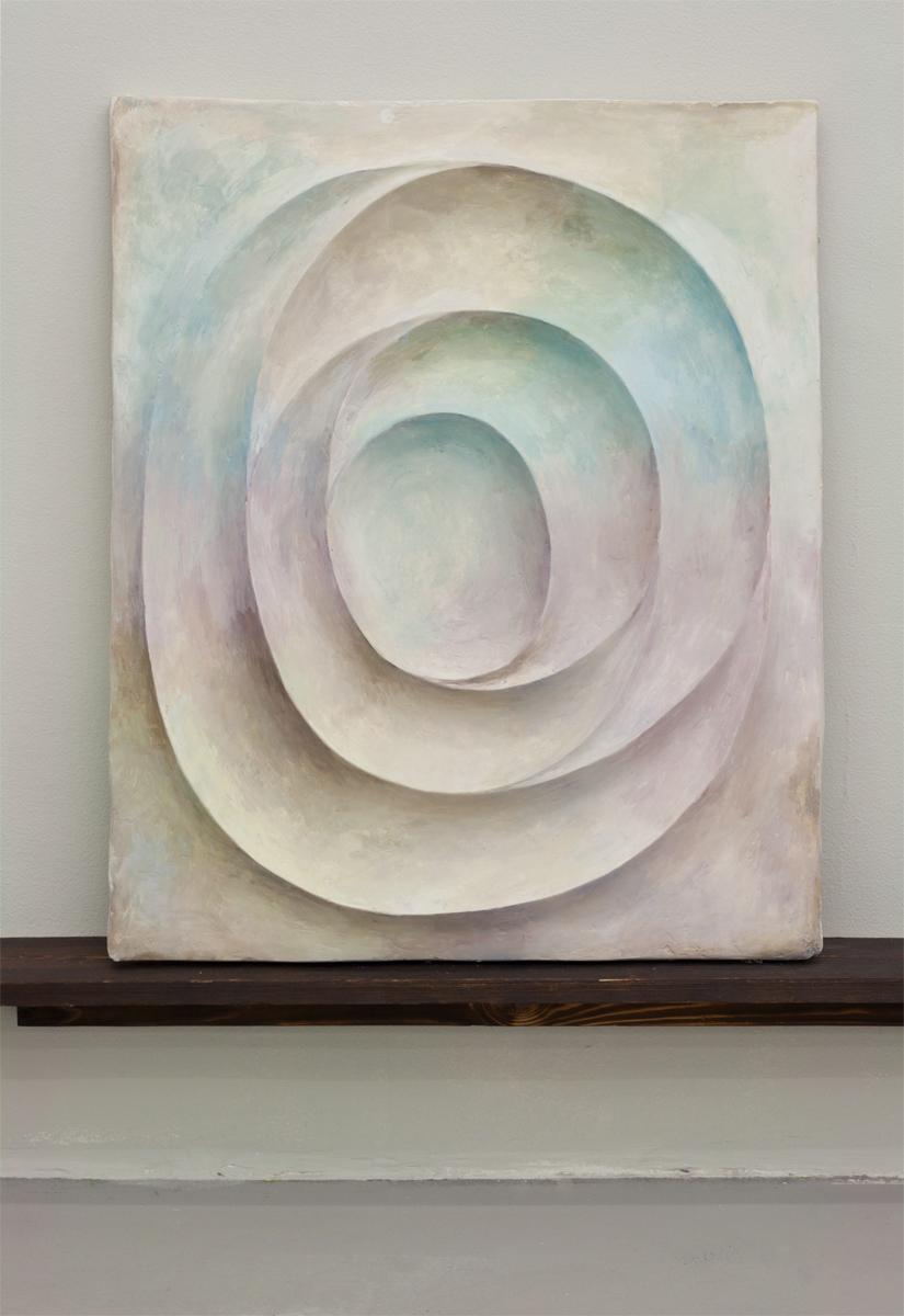Untitled, 2013,82 x 67 cm. Oil on plaster.