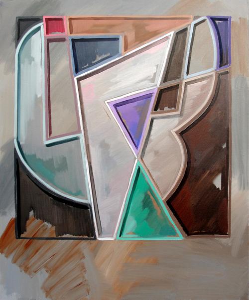 Untitled (Painterly Architectonics) Oil on canvas.