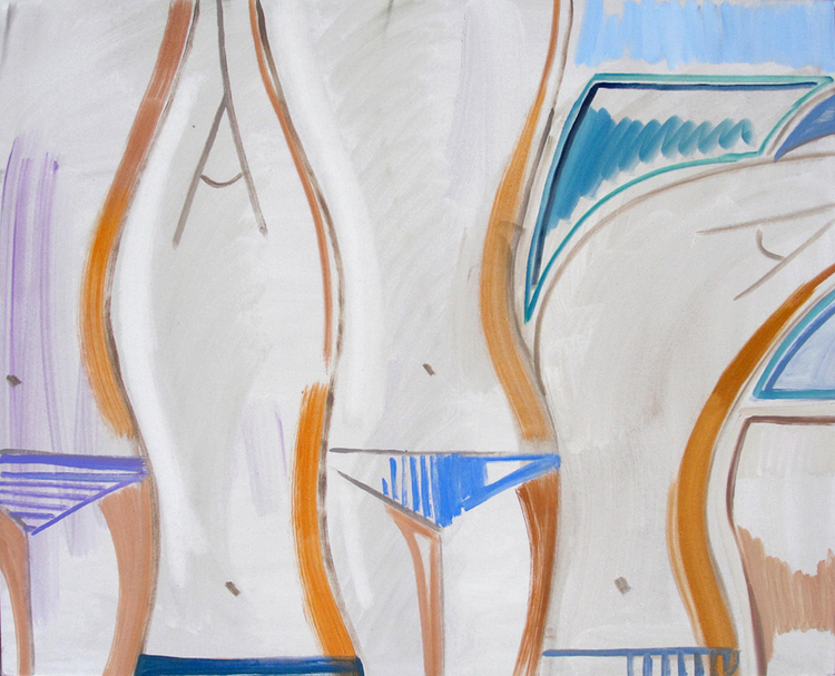 Bathers, 2012, 79,5 x 99,5 cm Oil on canvas.