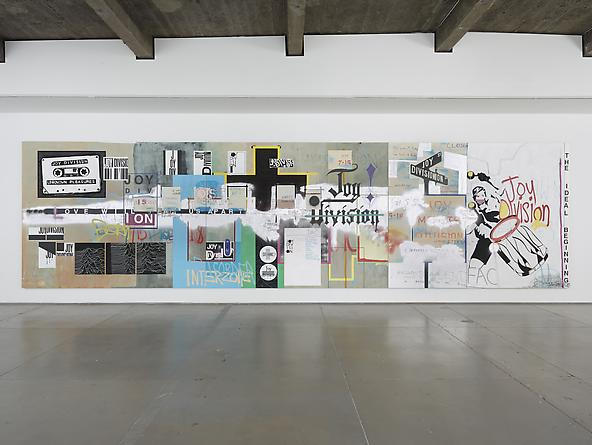 An Ideal For Living, 2012, 244 x 914,5 cm. Acrylic, spray paint and molotov marker on linen.