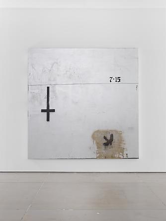 Trinity, 2012, 213,5 x 213,5 cm. Acrylic and spray paint on canvas.