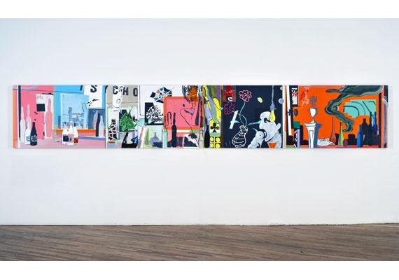 A New Kind of Kick, 2005, 3 panels 91,5 x 183 cm each. Acrylic on linen.