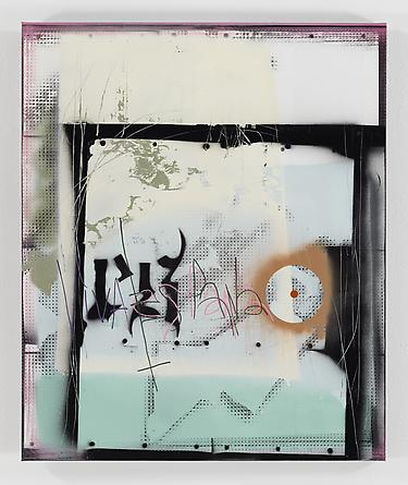 Mapping the Spaniard, 2012, 91,5 x 76 cm. Acrylic and spray paint on canvas.