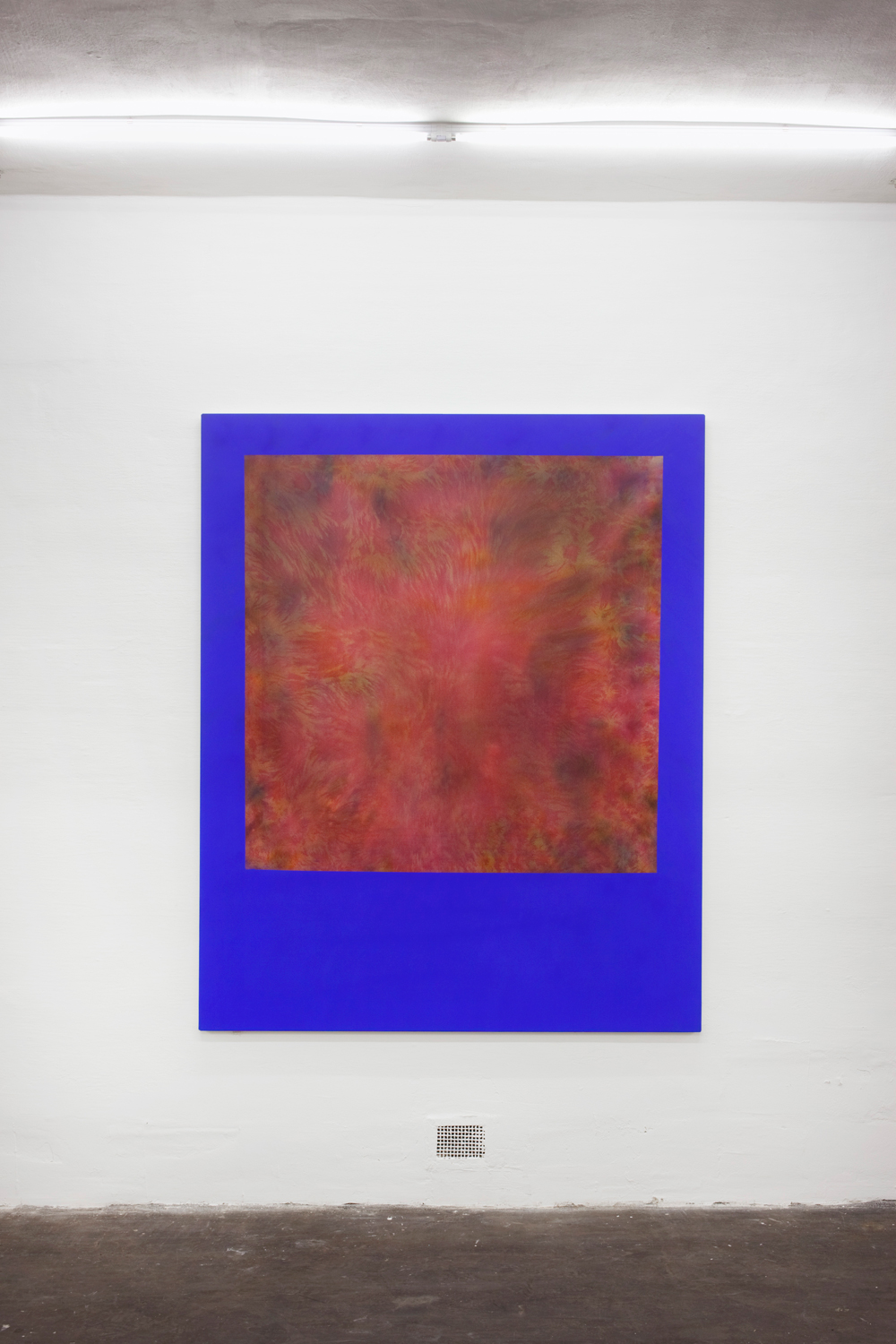 Untitled, 2013, silk paint, ink and pigment on sailing canvas, 179 x 145 cm