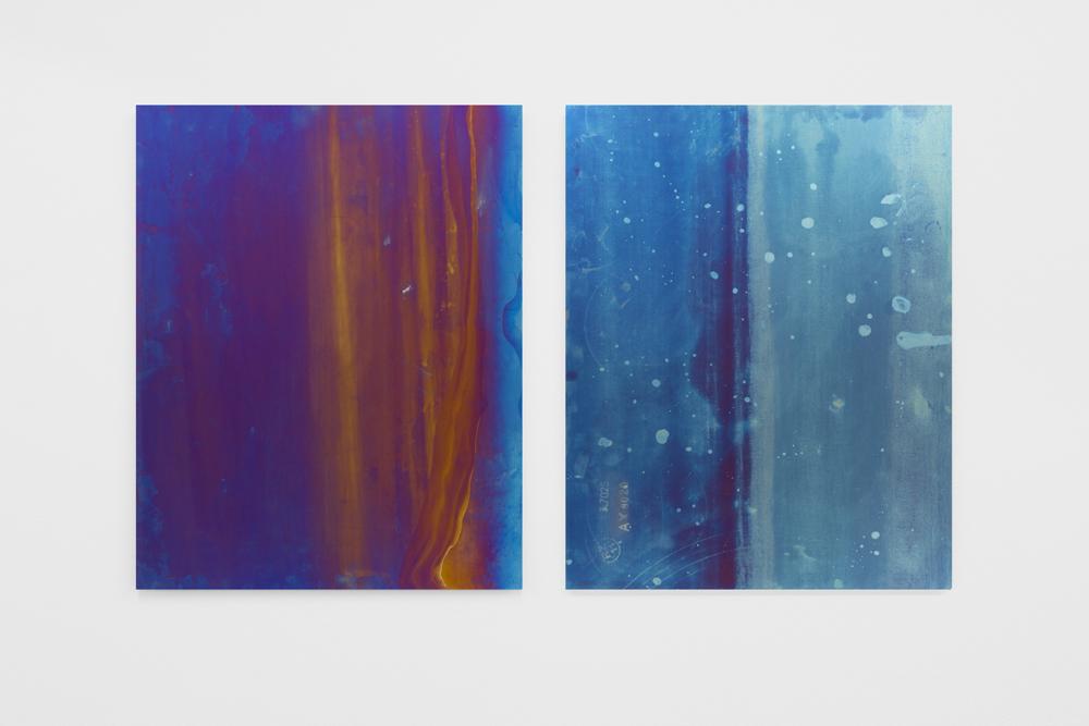 Untitled , 2014, 50 x 80 cm, Anodized titanium