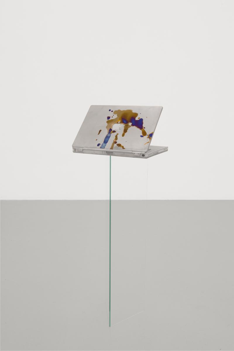Calculated Optimism (c), 2014, Anodized Apple PowerBook G4 Titanium computer, 34 x 24 x 3 cm