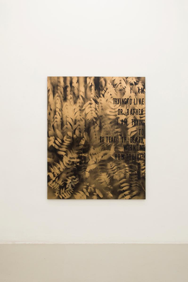 Nature Morte III , 2014, Sprayon canvas, 153 x 122 cm