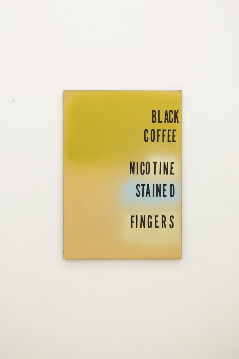 Nicotine Fingers , 2014, 2015, 100 x 70 cm Spraypaint on canvas