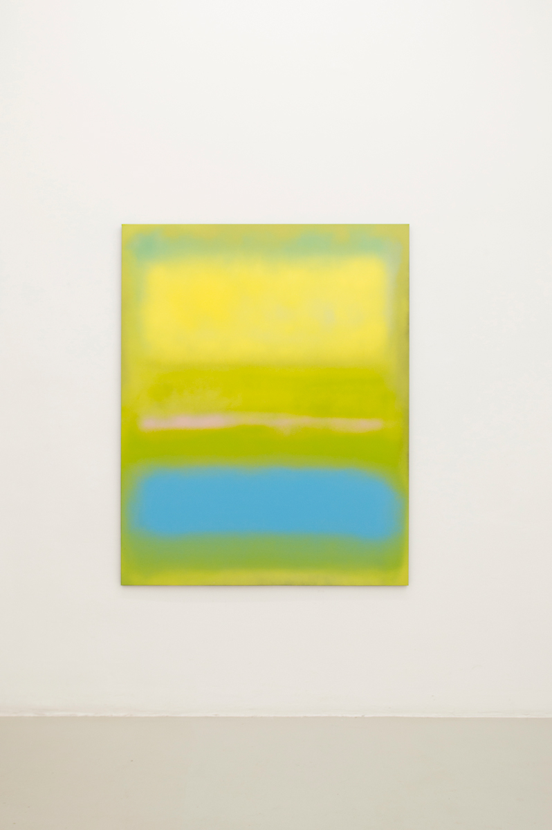 Absinthe Minded , 2014, 153 x 122 cm Spraypaint on canvas