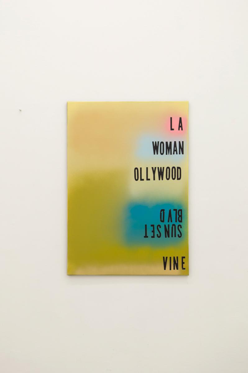 Ollywood , 2015, 100 x 70 cm Spraypaint on canvas