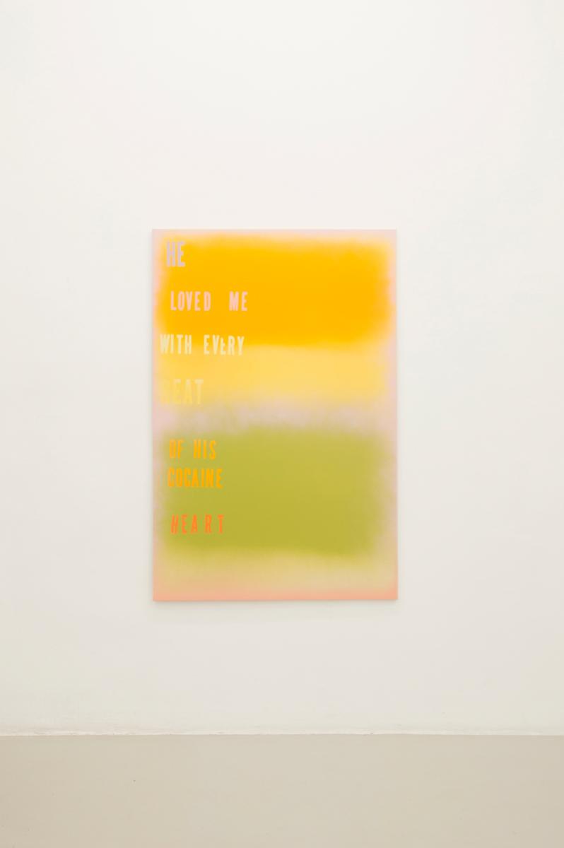 Citron Baby, 2014, 153 x 101 cm Spraypaint on canvas